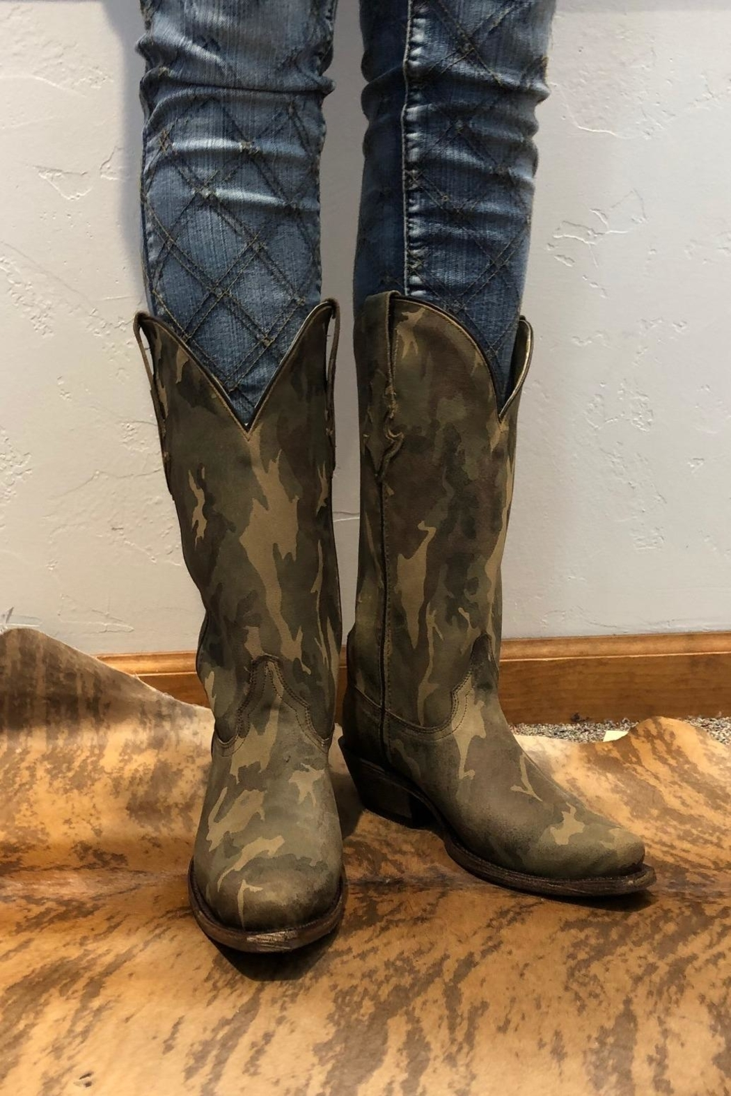 CoFi Camo Cowgirl Boot - Front Cropped Image