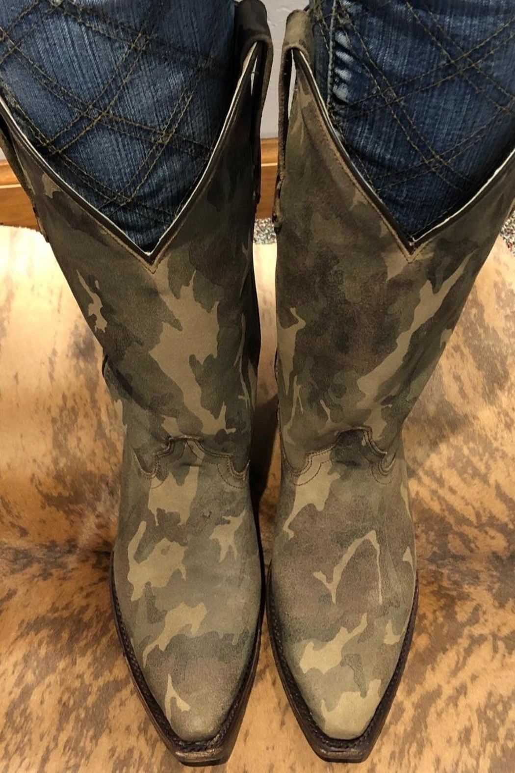 CoFi Camo Cowgirl Boot - Side Cropped Image