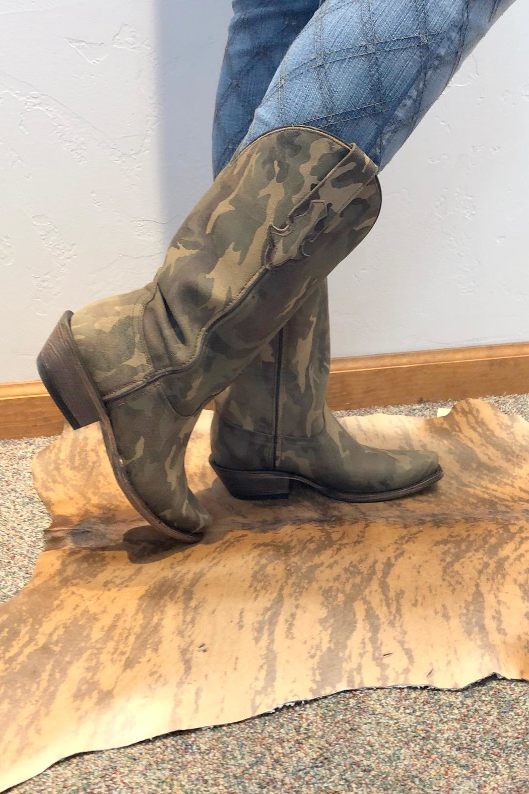CoFi Camo Cowgirl Boot - Back Cropped Image