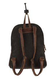 Myra Bags Camo Cowhide Backpack - Back cropped