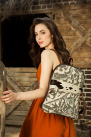 Myra Bags Camo Cowhide Backpack - Front cropped