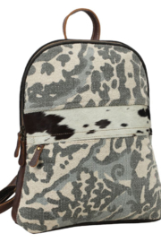 Myra Bags Camo Cowhide Backpack - Side cropped
