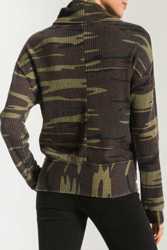 z supply Camo Cowl Neck Waffle Thermal - Alternate List Image