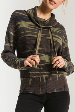 z supply Camo Cowl Neck Waffle Thermal - Product List Image