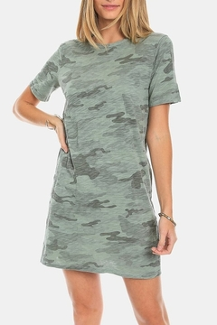 Dylan by True Grit Camo Crew T-Shirt Dress - Product List Image