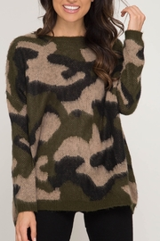 She + Sky Camo Cutie Sweater - Product Mini Image