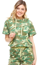 Dance & Marvel Camo Distressed Hoodie - Front cropped