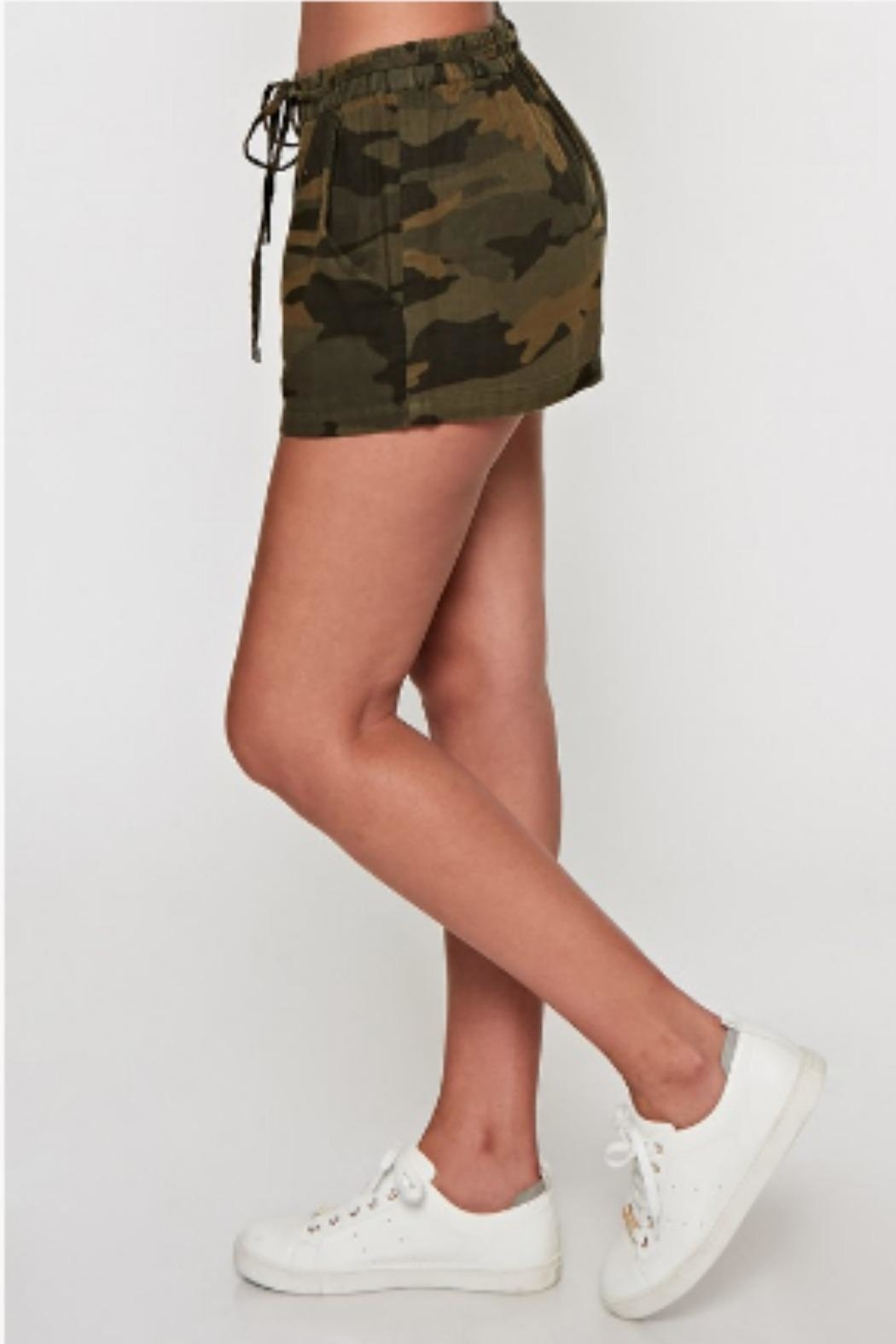 Lovestitch Camo Drawstring Short - Front Full Image