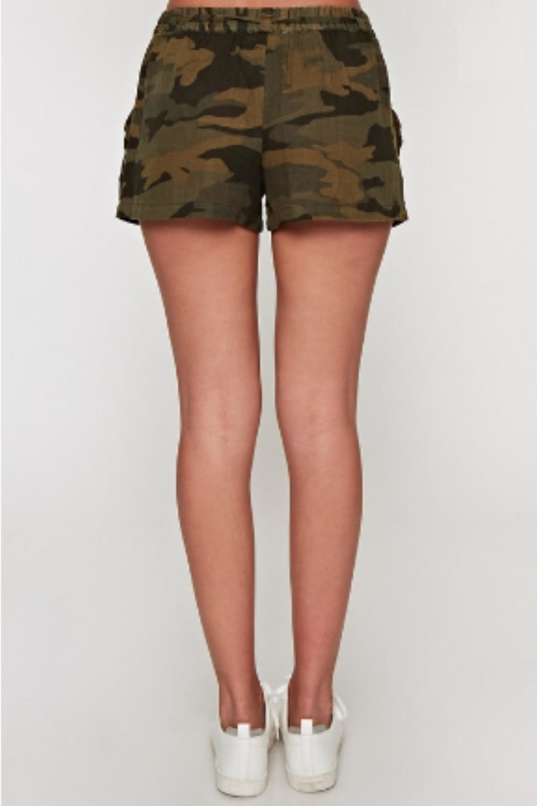 Lovestitch Camo Drawstring Short - Side Cropped Image