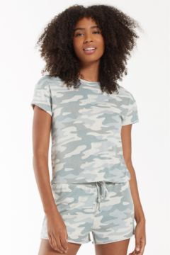z supply Camo Dusty Sage Tee - Product List Image