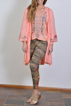 Johnny Was Camo Embroidered Legging - Alternate List Image