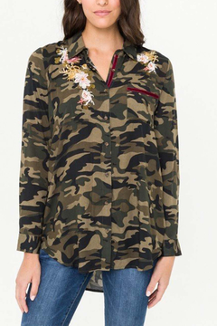 Shoptiques Product: Camo Embroidered Shirt