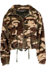 Sans Souci Camo Faux Zip-Up - Product Mini Image