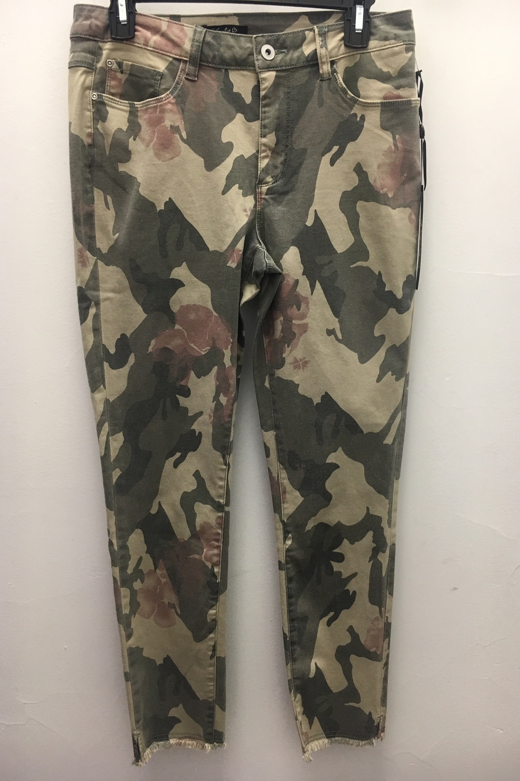 Charlie B Camo Floral Pant - Front Full Image
