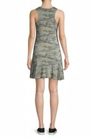 Red Haute Camo Flutter-Hem Dress - Side cropped