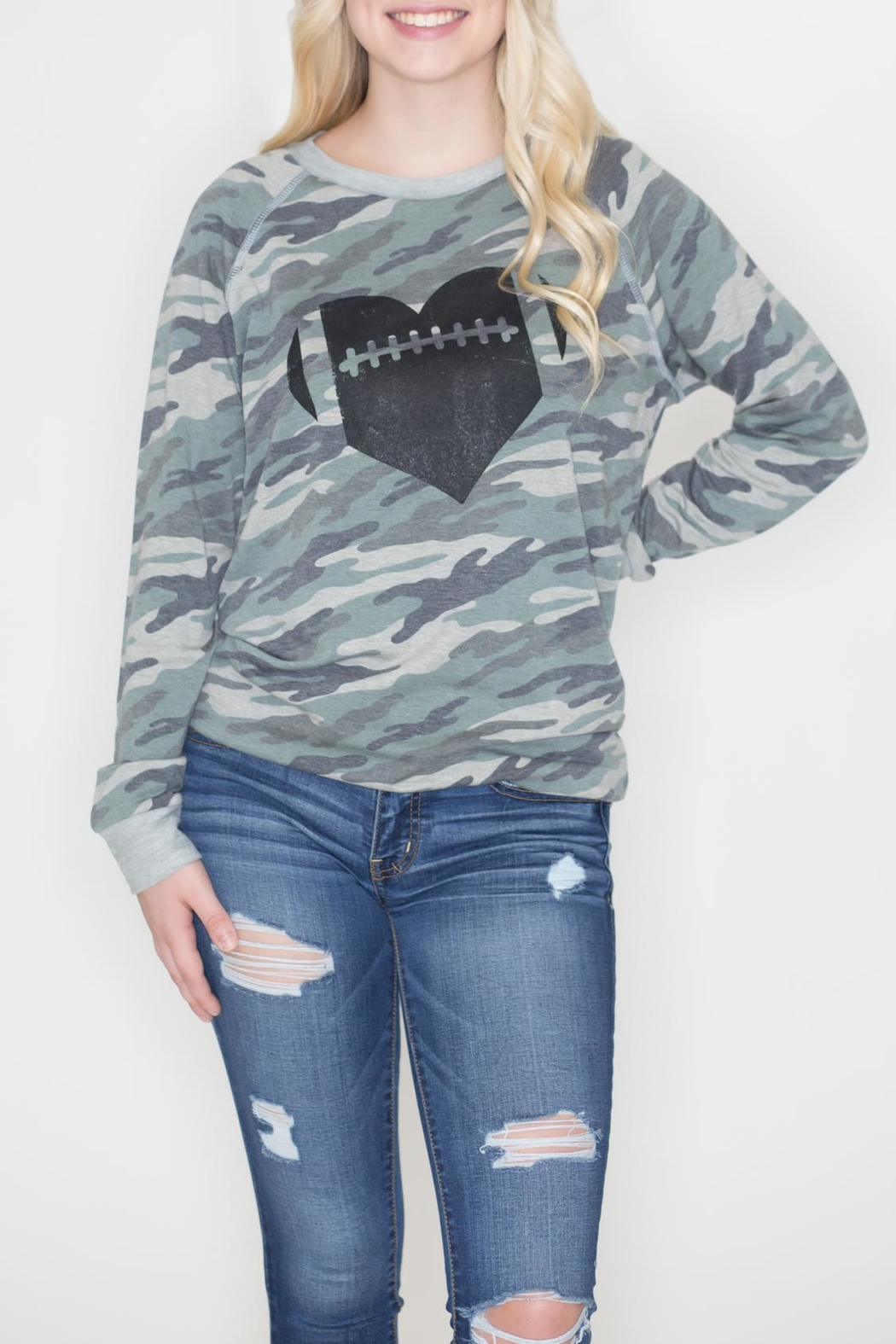 Zutter Camo Football Sweatshirt - Front Cropped Image