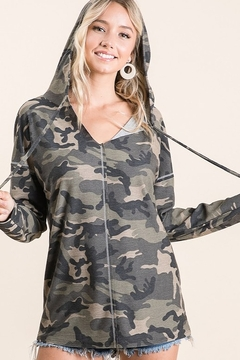 Bibi Camo French Terry Hoodie - Product List Image