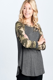 Emerald Camo Grey Shirt - Front cropped