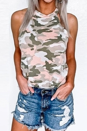 Mazik Camo Halter Neck Top - Front cropped