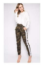 Polly & Esther Camo High-Waist Pants - Product Mini Image