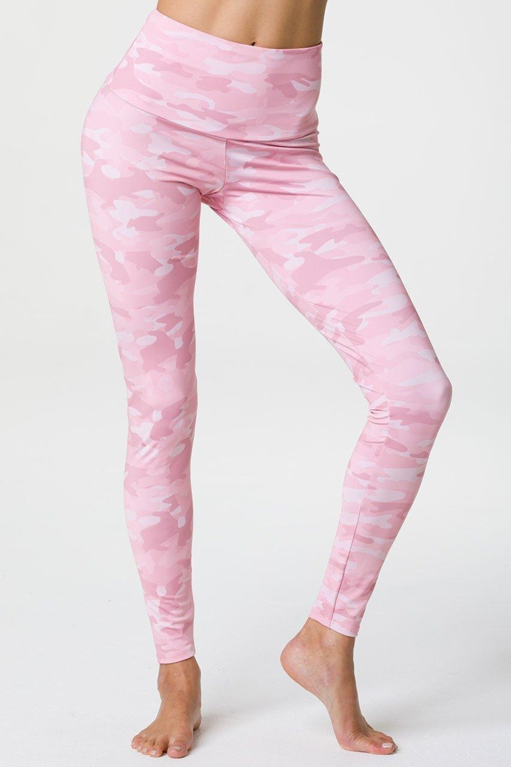Onzie Camo Highrise Legging - Side Cropped Image