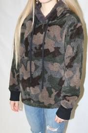 Dylan by True Grit Camo Hooded Pullover - Product Mini Image