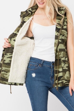 Shoptiques Product: Camo Hooded Vest