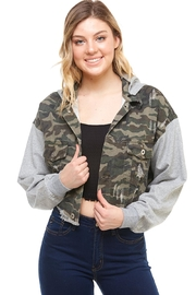 Dance & Marvel Camo Hoodie Jacket - Front full body