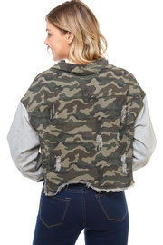 Dance & Marvel Camo Hoodie Jacket - Back cropped