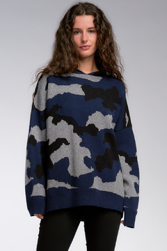 Shoptiques Product: Camo Hoodie Sweater