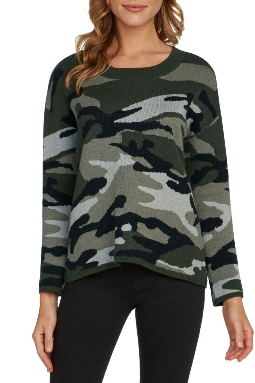willow and clay Camo Intarsia Pullover - Main Image