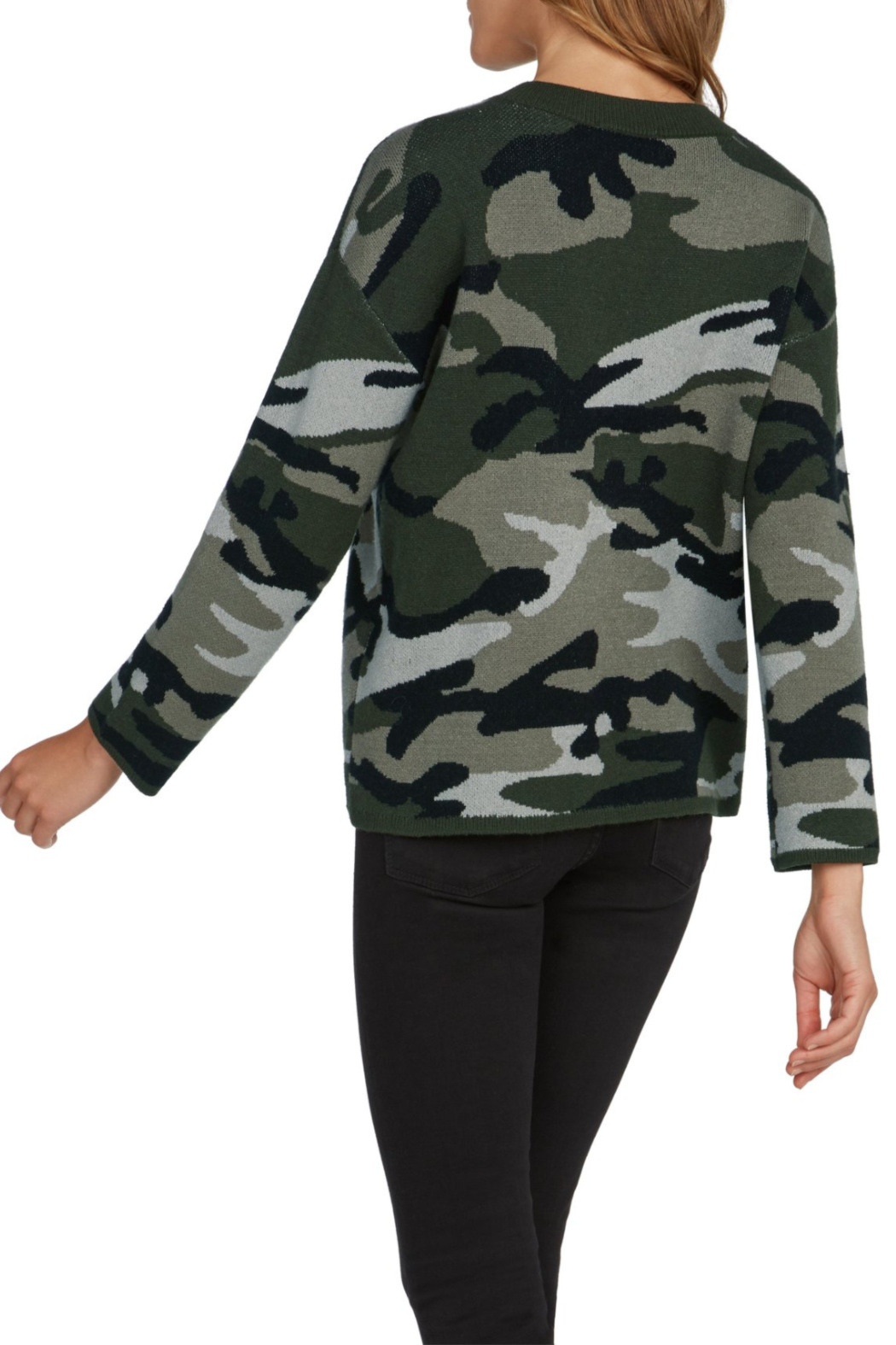 willow and clay Camo Intarsia Pullover - Front Full Image