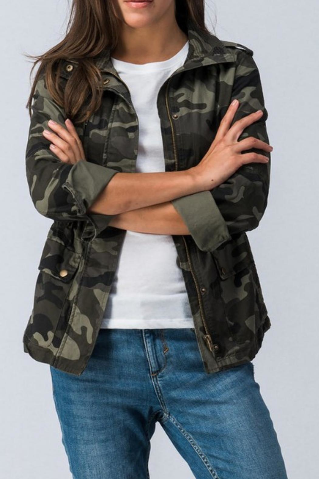 Trend:notes Camo Jacket - Front Full Image