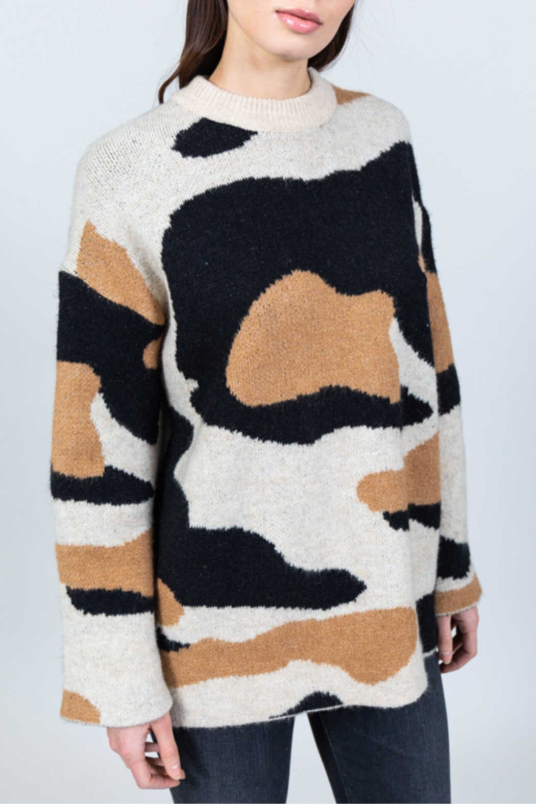 Allison Collection Camo Jacquard Sweater - Main Image
