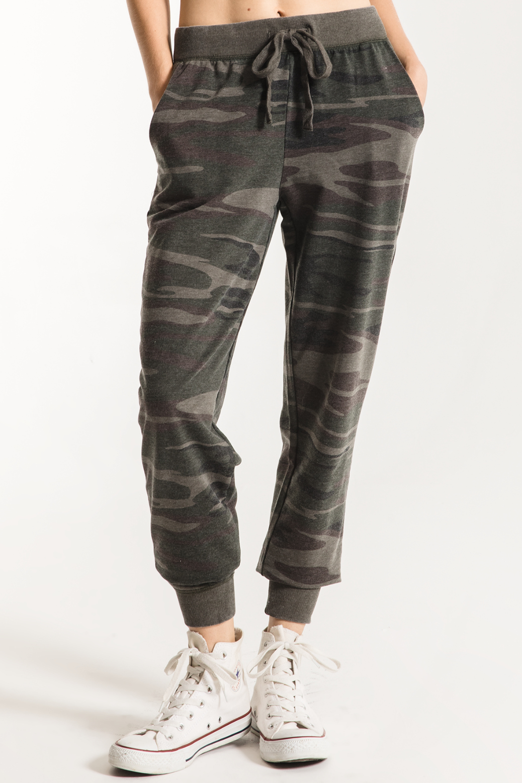 Z Supply  Camo Jogger Pant - Front Cropped Image