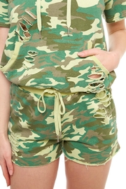 Dance & Marvel Camo Jogger Shorts - Front cropped