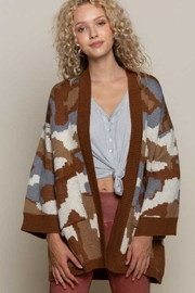 POL  Camo  Knit Cardigan - Front cropped