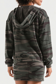 Z Supply  Camo Knit Hooded Jacket - Side cropped