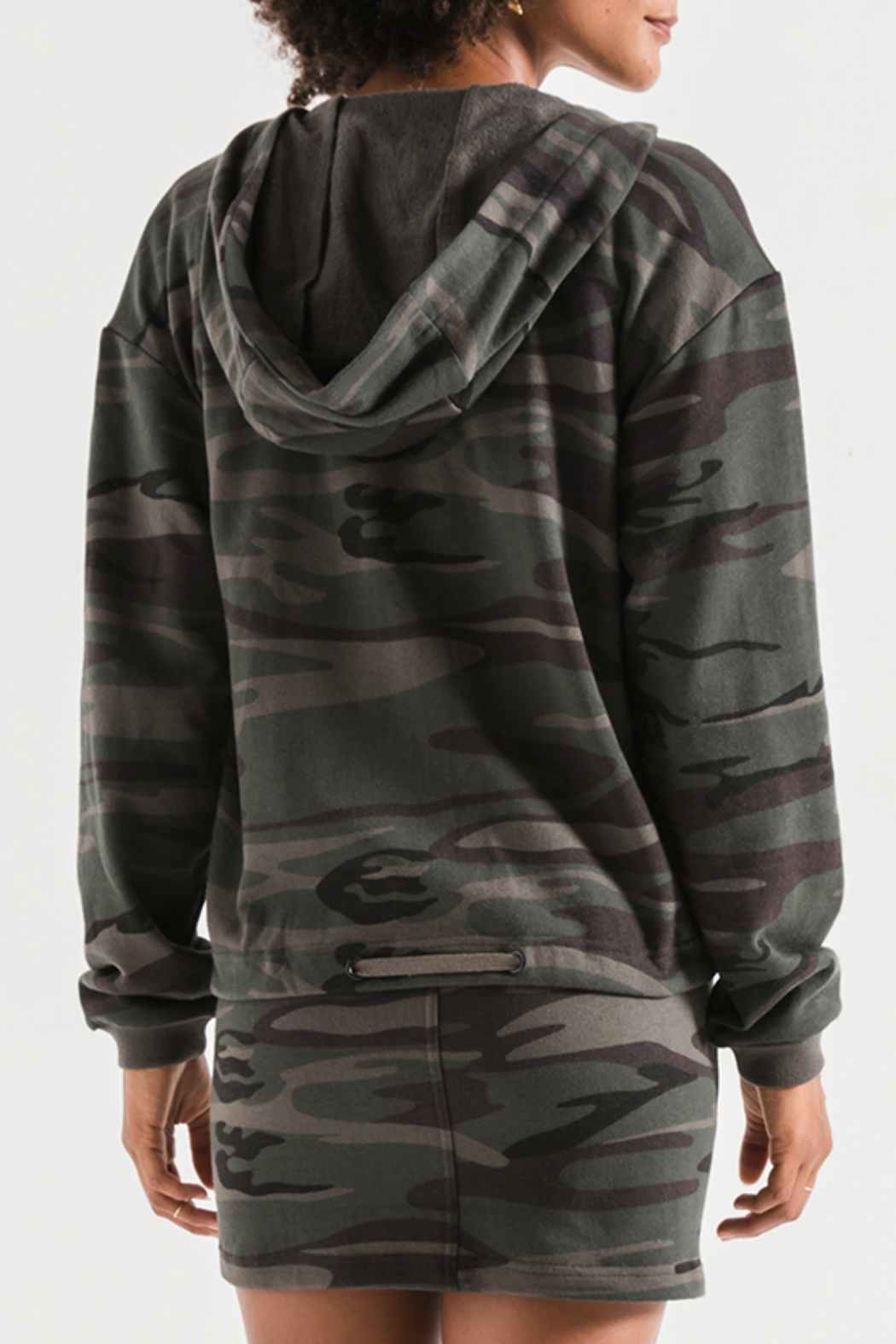 z supply Camo Knit Hooded Jacket - Side Cropped Image