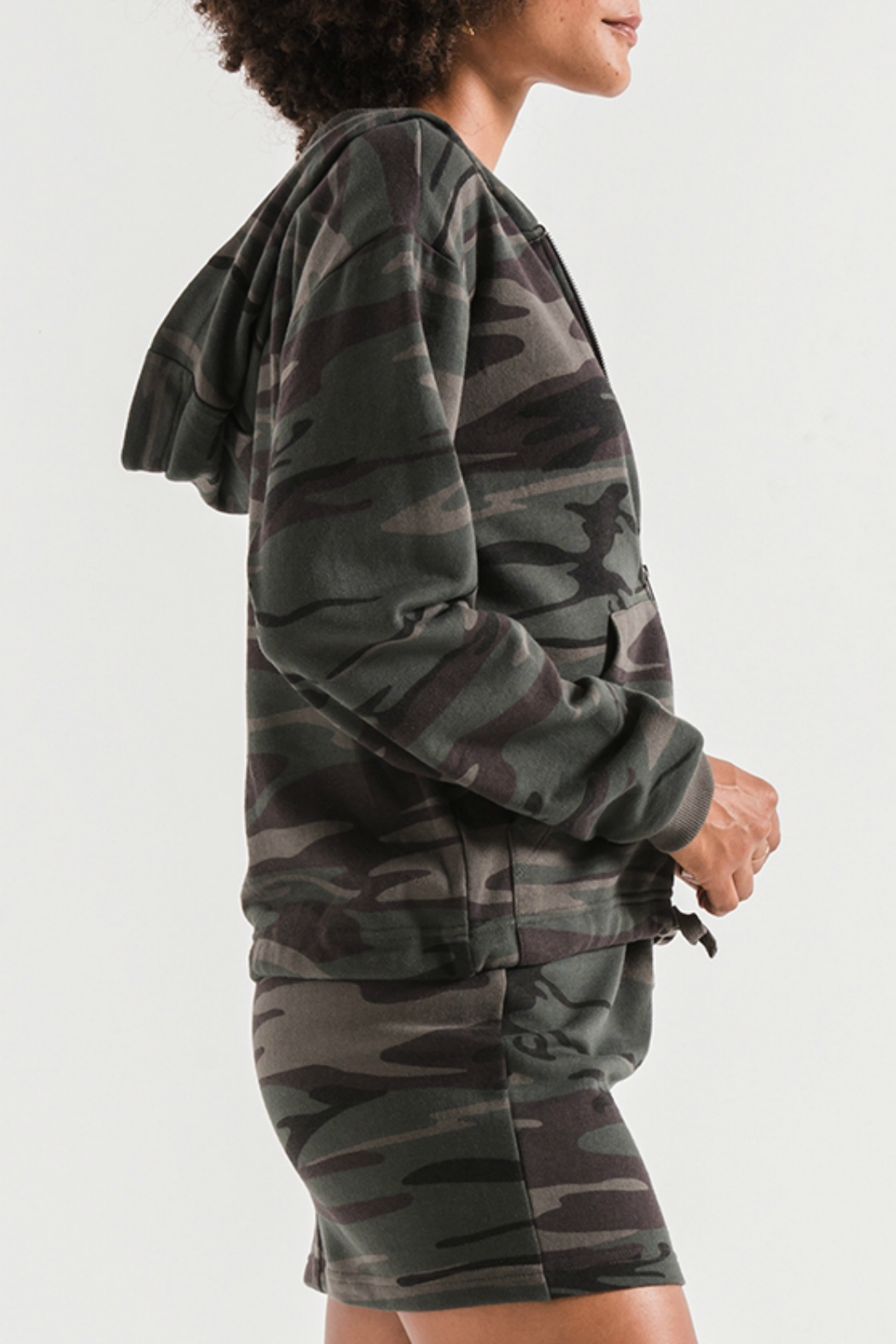 z supply Camo Knit Hooded Jacket - Front Full Image