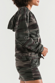 z supply Camo Knit Hooded Jacket - Front full body