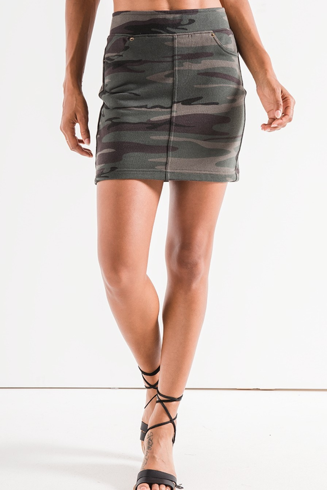 z supply Camo Knit Skirt - Front Cropped Image