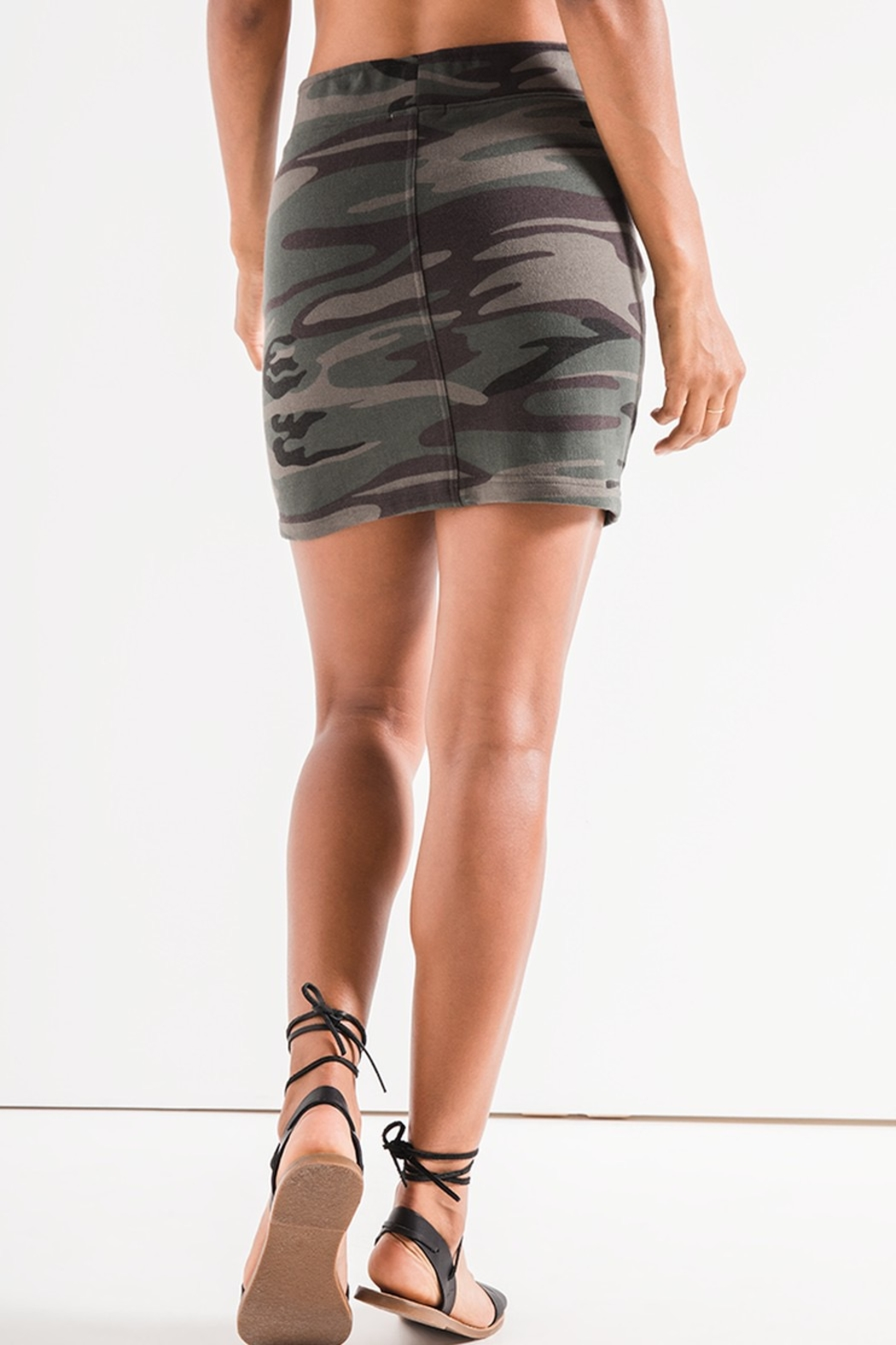 z supply Camo Knit Skirt - Front Full Image