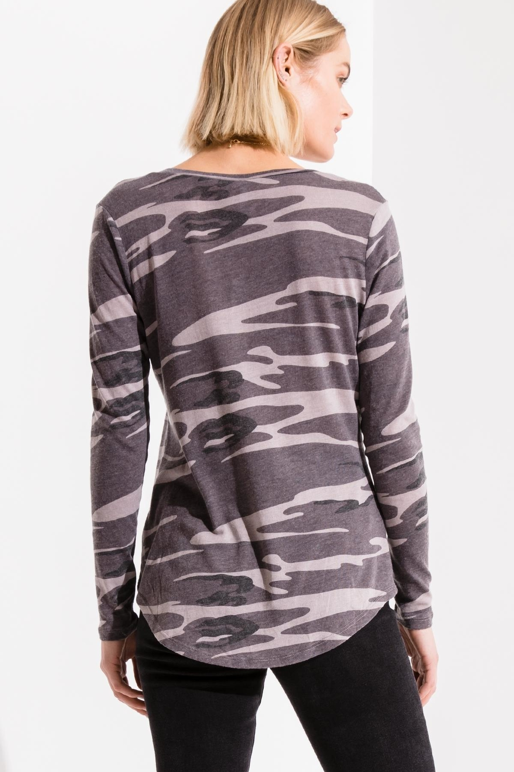 z supply Camo L/s Tee - Side Cropped Image