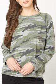 Elan Camo Lace-Back Sweatshirt - Product Mini Image
