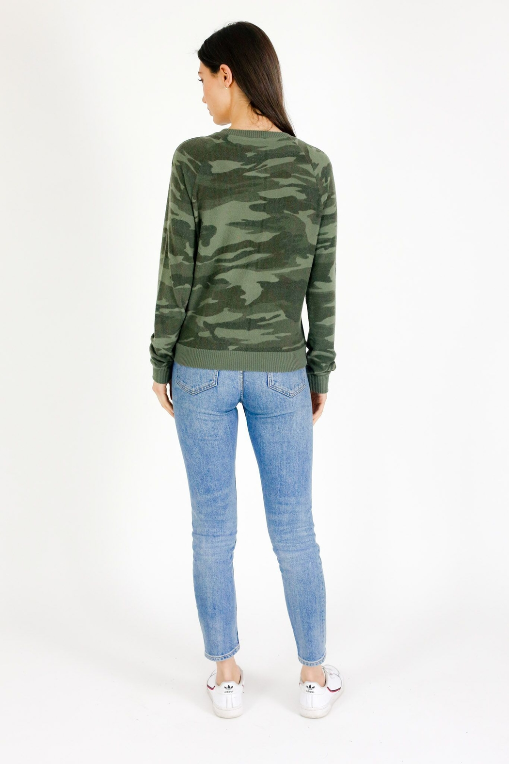 Six Fifty Camo Lace up Hacci Pullover - Main Image