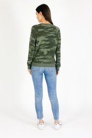 Six Fifty Camo Lace up Hacci Pullover - Front full body