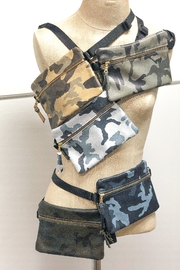 Zina Kao Camo Leather Hip Bags - Front cropped