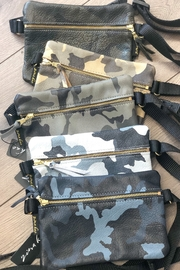 Zina Kao Camo Leather Hip Bags - Front full body