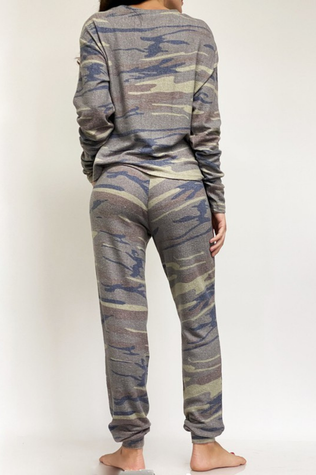 Fornia Camo LS & Jogger Lounge Set - Front Full Image